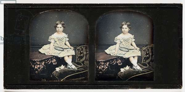 A Young Girl, c.1855 (stereo-daguerreotype)