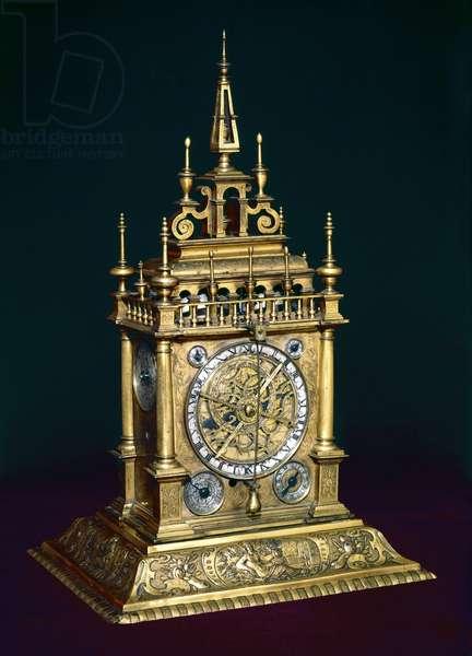 Augsburg clock, c.1630 (metal)