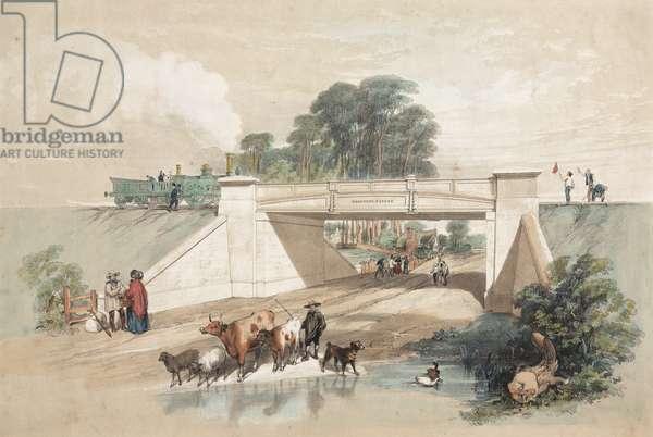 Gardner's Patent Railway Bridge (colour litho)