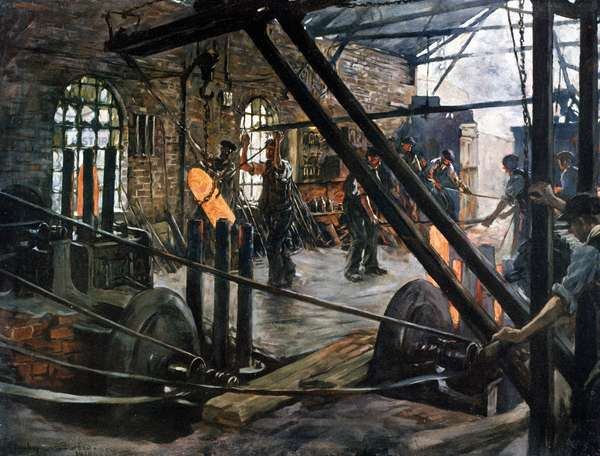 Shell-Workers, 1918 (oil on canvas)