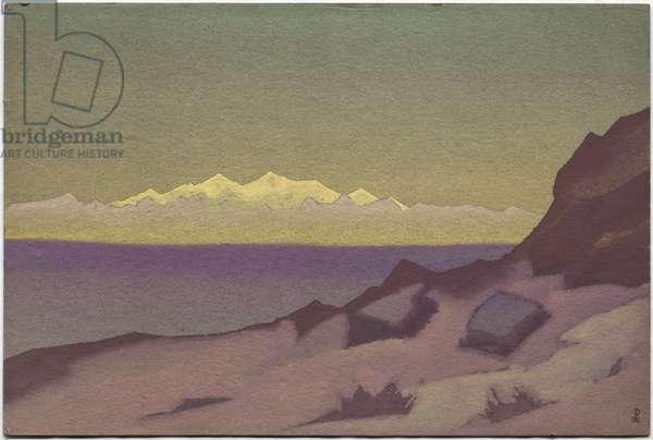 Tibetan Frontier, Tsaidam, 1936 (tempera on cardboard)
