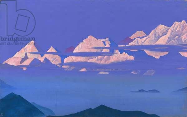 Himalayas (Kanchenjunga) 1933 (tempera on canvas)