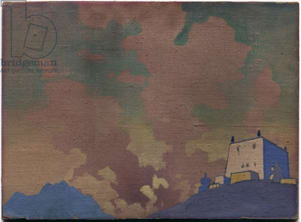 Gompa, 1932 (tempera on canvas laid on cardboard)