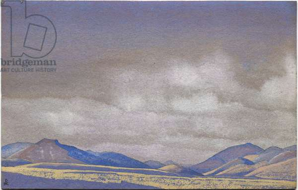 Mongolia, Hills of Chahar, 1936 (tempera on cardboard)