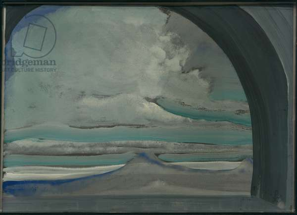 White Cloud, 1922 (pencil, gouache, ceruse & w/c on cardboard)