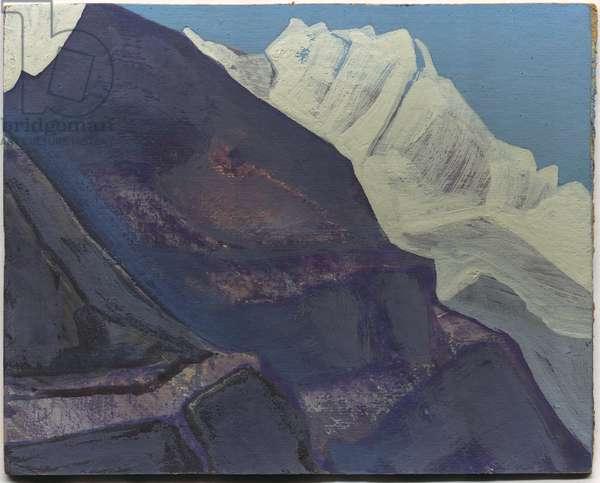 Mountains, study, 1933 (tempera on cardboard)