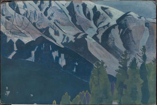 Pir Panjal, from the series of the same title, 1925 (tempera on canvas laid on cardboard)