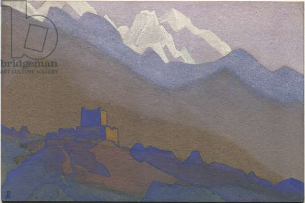 Tibet, Himalayas, 1936 (tempera on cardboard)