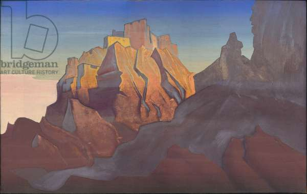 Tibetan Stronghold (Basgo), 1932 (tempera on canvas)