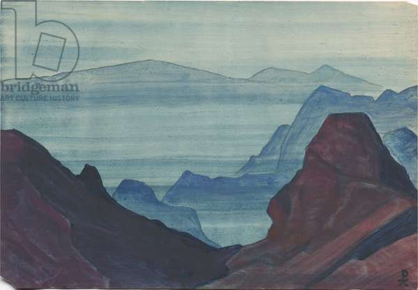 Himalayas, album leaf, 1934 (tempera on paper)