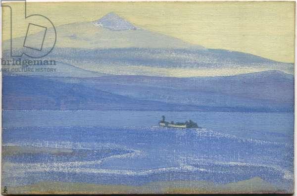 Tibetan Path, 1931 (tempera on canvas laid on cardboard)