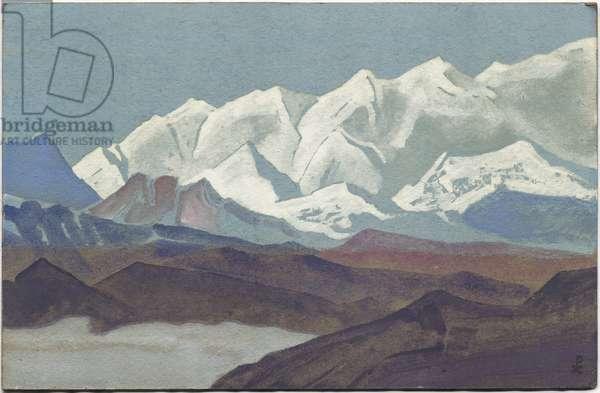 Himalayas, Kanchenjunga Range, 1936 (tempera on cardboard)