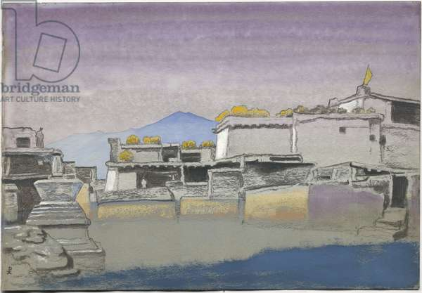 Kardang, study, 1932 (tempera and pastel on paper)