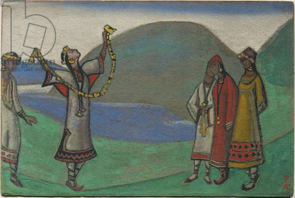 Maidens, décor and costume design for Stravinsky's ballet 'Le Sacre du Printemps', 1944 (tempera on cardboard)