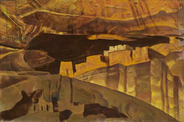 White House ruins in Canyon De Chelly, 1921 (tempera on canvas)