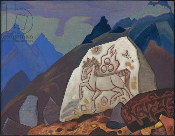 White Stone, 1933 (tempera on canvas)