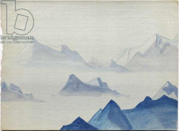 Himalayas, album leaf, 1933/34 (tempera on paper)
