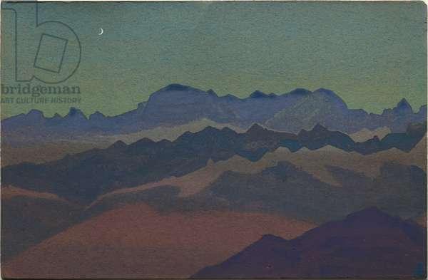 Himalayas, near Sandakphu, 1936 (tempera on cardboard)