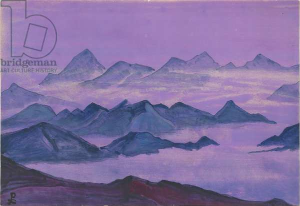Himalayas. Album leaf, 1934 (tempera on paper)