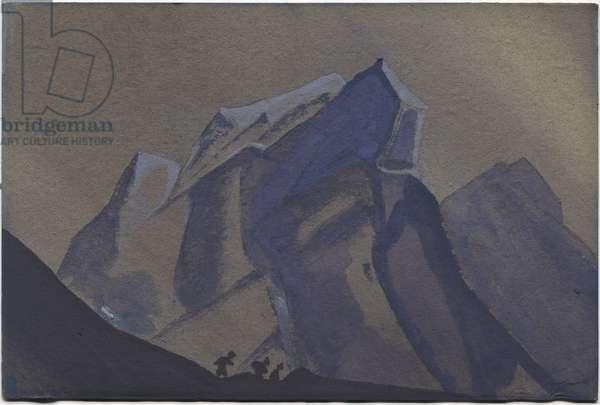 Mountain Pass, Storm, 1936 (tempera on cardboard)