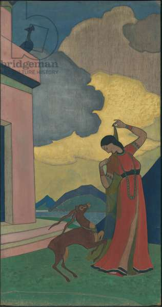 Song of the Morning, decorative panel, 'Dreams of Wisdom' series, 1920 (tempera on canvas)