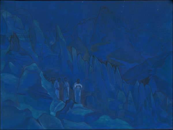 Burning of Darkness, 'His Country' series, 1924 (tempera on canvas)