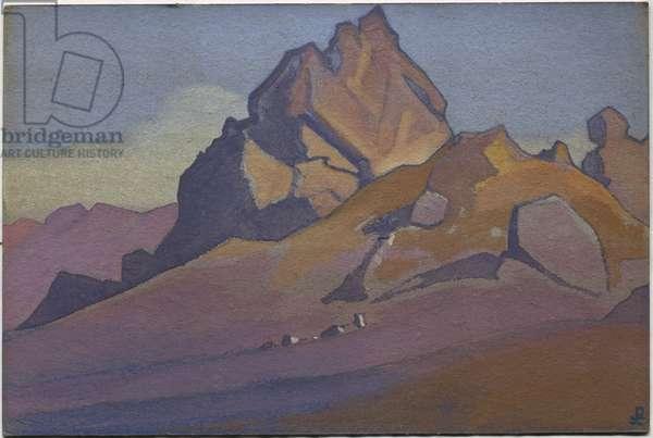 Timur Khada, 1936 (tempera on cardboard)