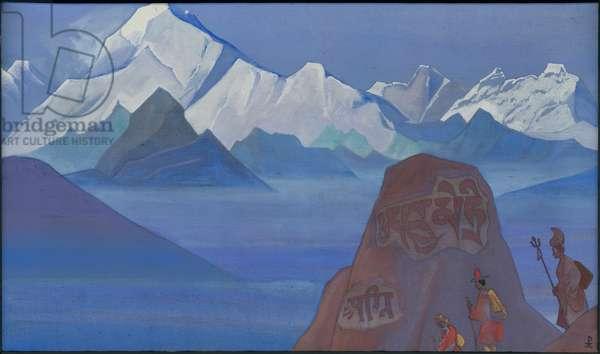 Path to Kailas, 1932 (tempera on canvas)