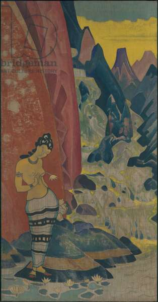 Song of the Waterfall, decorative panel, 'Dreams of Wisdom' series, 1920 (tempera on canvas)