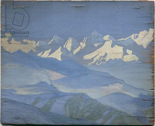 Himalayas, 1928 (tempera on panel)