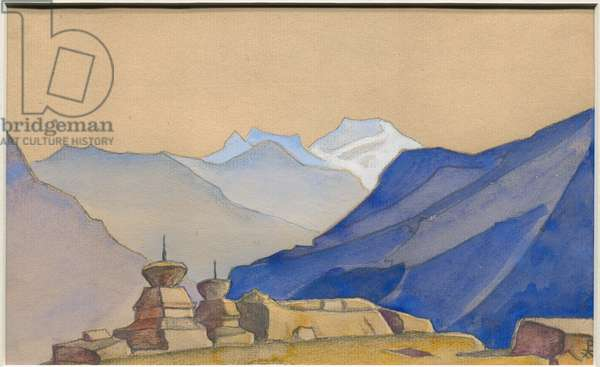 Karga, album leaf, 1933 (tempera and pencil on paper)