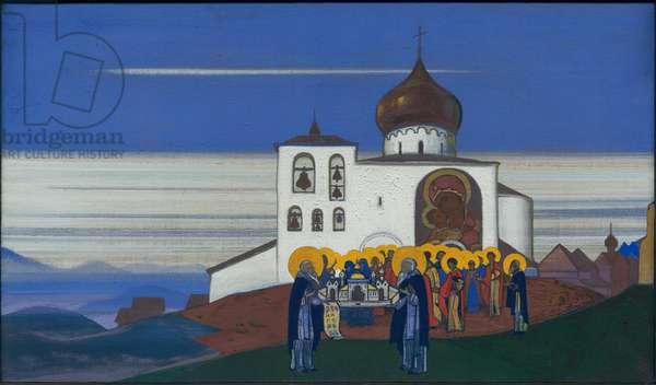 Zvenigorod, 1933 (tempera on canvas)
