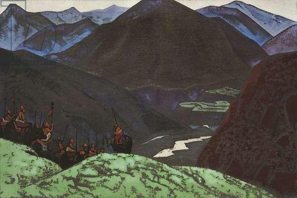 The Host of Gesar Khan, 1931 (tempera on canvas)