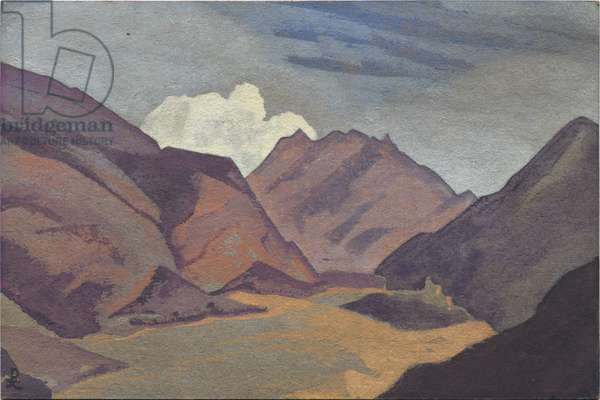 Baltistan, border with Ladakh, 1936 (tempera on cardboard)