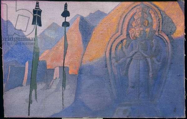 Chenrezi, 1932 (tempera on canvas laid on cardboard)