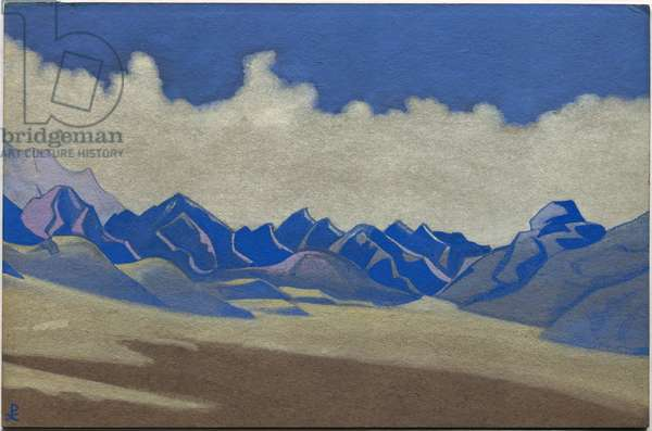 Karakoram, Path to Turkestan, 1936 (tempera on cardboard)