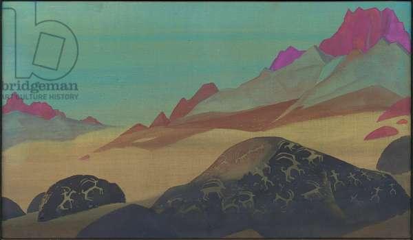 Rocks of Ladakh, 1932 (tempera on canvas)