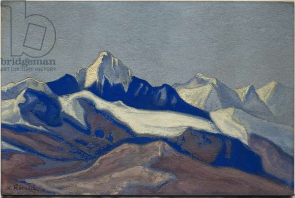 Himalayas, 1945 (tempera on cardboard)