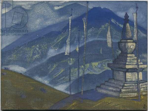 Waves of Mist, 'Himalayan' series, 1924 (tempera on canvas laid on cardboard)