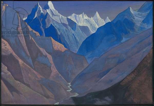 Mount 'M', 1931 (tempera on canvas)