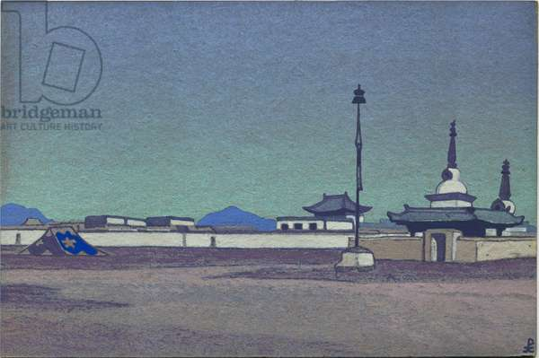 Batukhalka, Capital of Inner Mongolia, 1936 (tempera on cardboard)