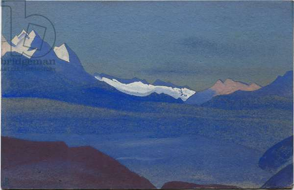 Kashmir, 1936 (tempera on cardboard)