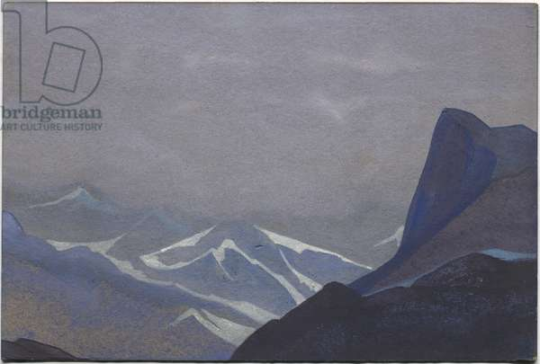 Suget Pass, 1936 (tempera on cardboard)