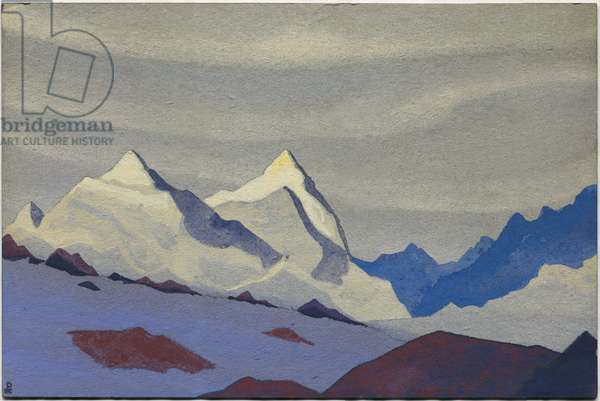 Western Himalayas, 1936 (tempera on cardboard)