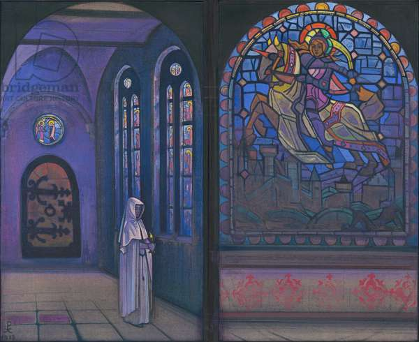 Glory to the Hero, diptych, 1933 (tempera on canvas)
