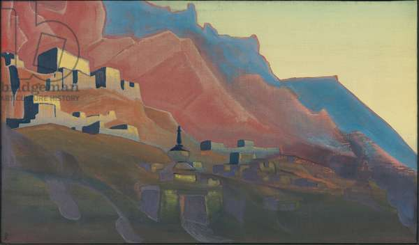 Ladakh, Sunset, 'Holy Mountains' series, 1933 (tempera on canvas)