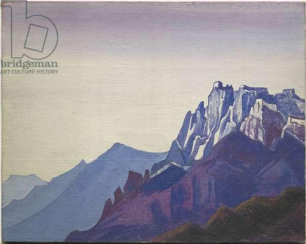 Ladakh, 1929 (tempera on canvas laid on cardboard)