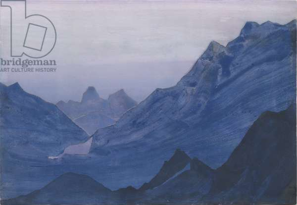 Himalayas, album leaf, 1934 (tempera on paper)