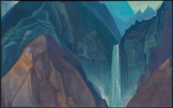 Palden Lhamo, 1931 (tempera on canvas)