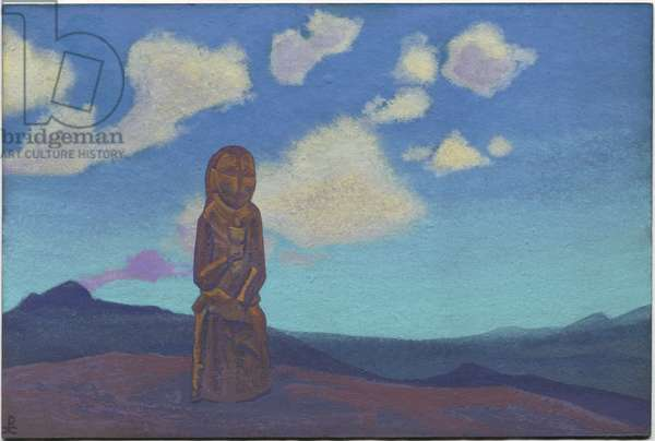 Guardian of the Chalice, Mongolia, 1937 (tempera on cardboard)